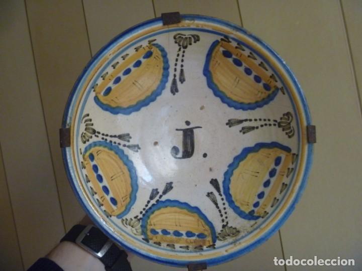 Antigüedades: Plato cerámica Puente del Arzobispo serie novia finales S XVIII ALTA COLECCIÓN VALOR MUSEISTICO - Foto 2 - 193408326