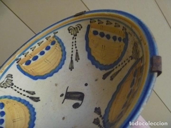Antigüedades: Plato cerámica Puente del Arzobispo serie novia finales S XVIII ALTA COLECCIÓN VALOR MUSEISTICO - Foto 3 - 193408326