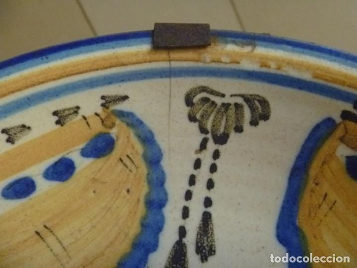 Antigüedades: Plato cerámica Puente del Arzobispo serie novia finales S XVIII ALTA COLECCIÓN VALOR MUSEISTICO - Foto 4 - 193408326