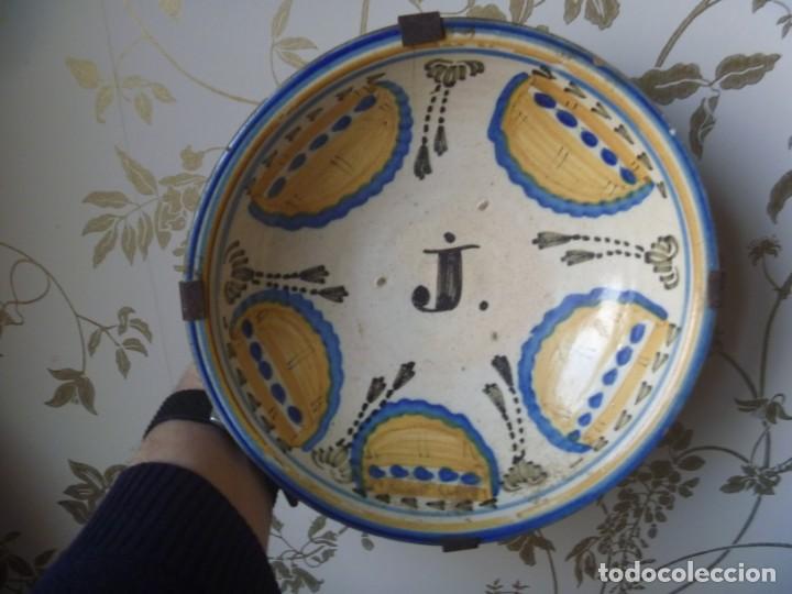 Antigüedades: Plato cerámica Puente del Arzobispo serie novia finales S XVIII ALTA COLECCIÓN VALOR MUSEISTICO - Foto 11 - 193408326