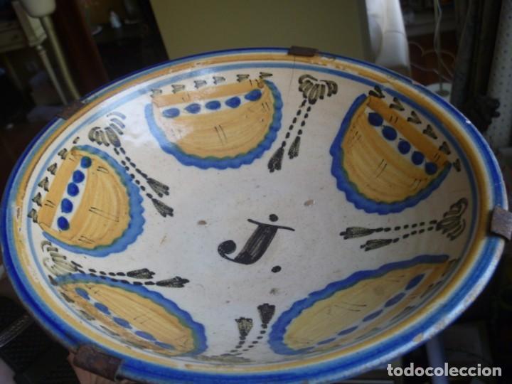 Antigüedades: Plato cerámica Puente del Arzobispo serie novia finales S XVIII ALTA COLECCIÓN VALOR MUSEISTICO - Foto 13 - 193408326