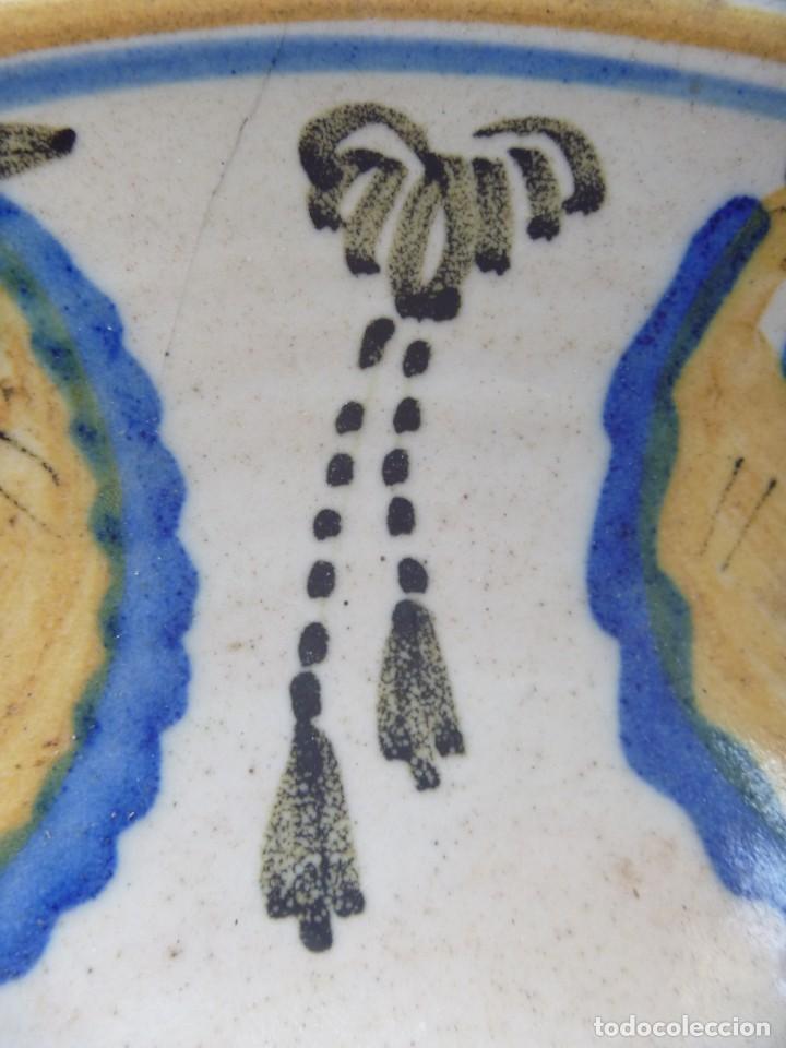 Antigüedades: Plato cerámica Puente del Arzobispo serie novia finales S XVIII ALTA COLECCIÓN VALOR MUSEISTICO - Foto 14 - 193408326