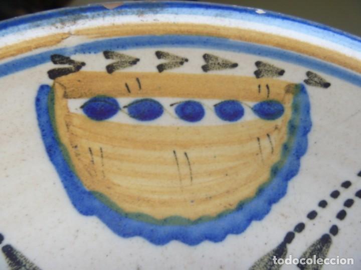 Antigüedades: Plato cerámica Puente del Arzobispo serie novia finales S XVIII ALTA COLECCIÓN VALOR MUSEISTICO - Foto 15 - 193408326