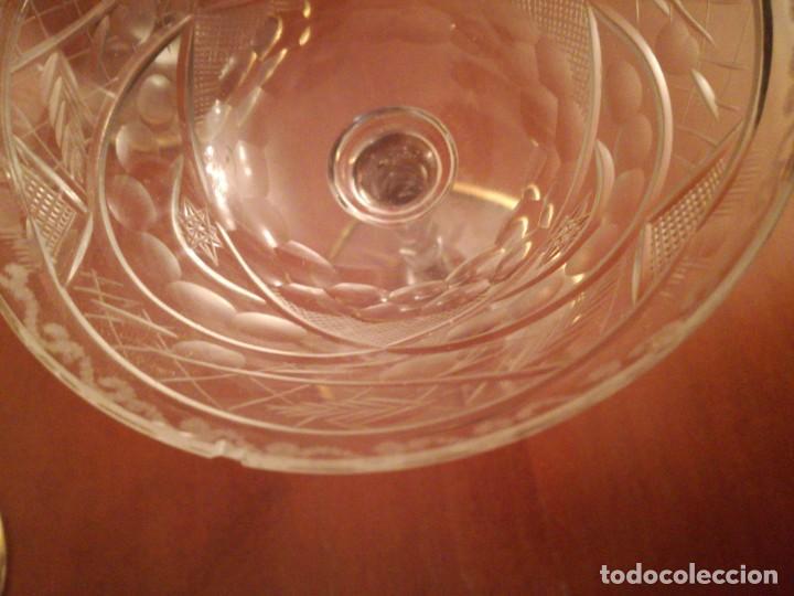Antigüedades: 6 antiguas copas de cava cristal tallado - Foto 3 - 193430421