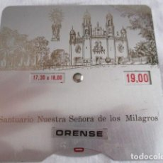 Antigüedades: SANTUARIO DE NUESTRA SEÑORA DE LOS MILAGROS - OURENSE / 11,5 CM X 11,5 CM. Lote 193436595