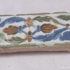 Antigüedades: AZULEJO ANTIGUO DE TOLEDO - ARISTA - MUDEJAR / RENACENTISTA- SIGLO XVI.. Lote 193441905
