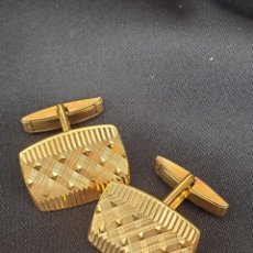 Antigüedades: GEMELOS CHAPADOS EN ORO DE PRIMERA LEY. Lote 193556125