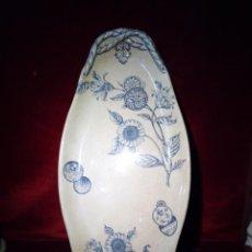 Antigüedades: ANTIGUA BANDEJA DE LOZA ESMALTADA DE GRAN TAMAÑO - PORCELANA - IROSTONE CHINA - 58CM. Lote 193569903