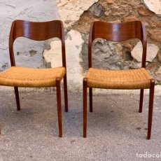 Antigüedades: SILLAS NIELS OTTO MOLLER FOR JL MOLLER MODEL 71 DINING CHAIRS, 1960S DENMARK,NÓRDICAS. Lote 205115123