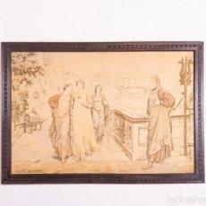 Antigüedades: TAPIZ ITALIANO DANTE ET BÉATRICE. Lote 193578224