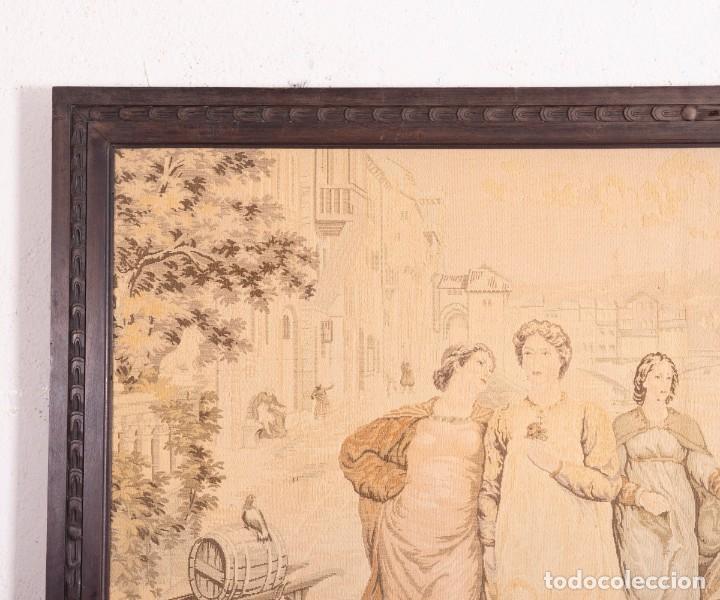Antigüedades: Tapiz Italiano Dante Et Béatrice - Foto 2 - 193578224