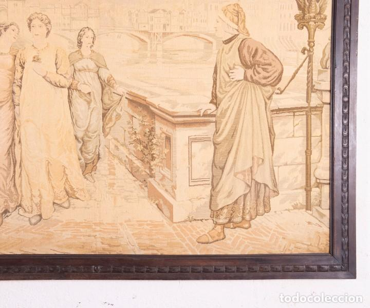 Antigüedades: Tapiz Italiano Dante Et Béatrice - Foto 4 - 193578224