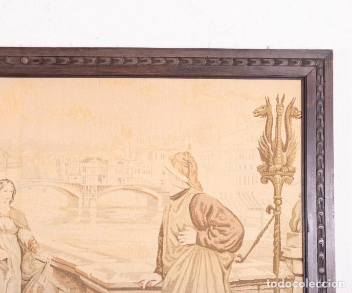 Antigüedades: Tapiz Italiano Dante Et Béatrice - Foto 5 - 193578224