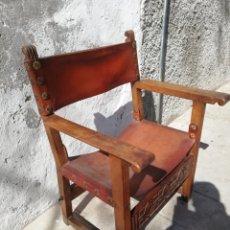 Antigüedades: SILLÓN FRAILERO SIGLO XVII. Lote 193583138