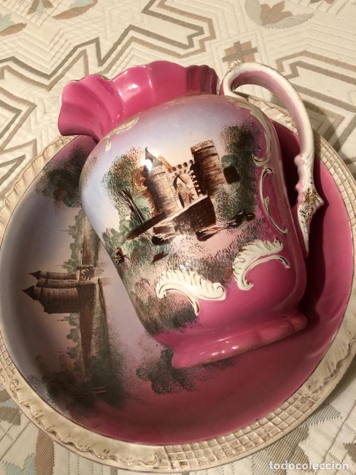 Antigüedades: Palangana y Jarra Antigüedades Cartuja - Foto 8 - 183734685