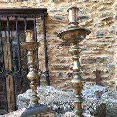 Antiquités: PAREJA CANDELABROS ANTIGUOS. Lote 193619958