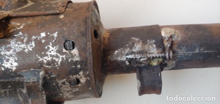 Antigüedades: Antigua linterna semáforo de ferroviario de vela - Foto 10 - 193624012