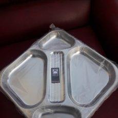 Antigüedades: 6 BANDEJAS DE AUTOSERVICIO DE ACERO INOXIDABLE BRA. Lote 193632453