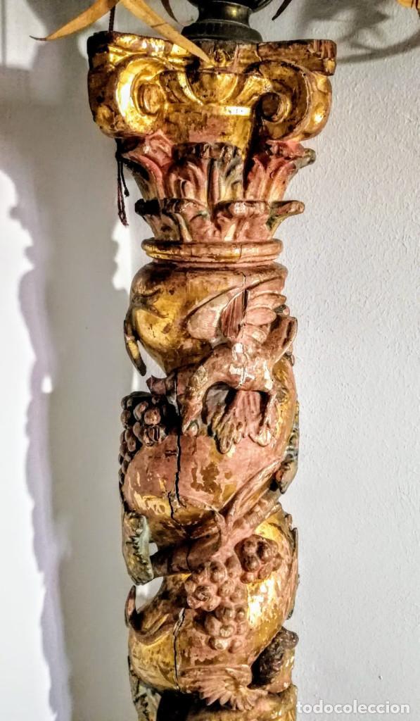 Antigüedades: Columna barroca del 1800 - Foto 2 - 193634397