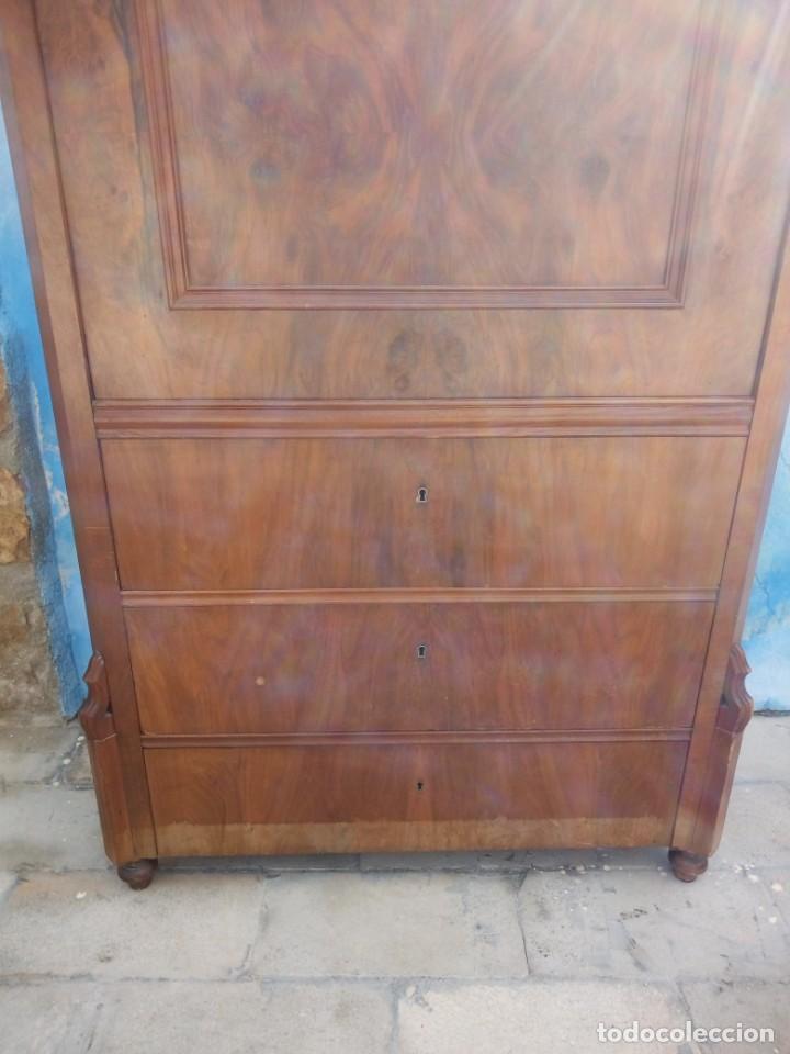 Antigüedades: antiguo SECRETAIRE estilo luis xiii ,madera maciza de nogal,interior con cajones con marquetería. - Foto 16 - 193649223
