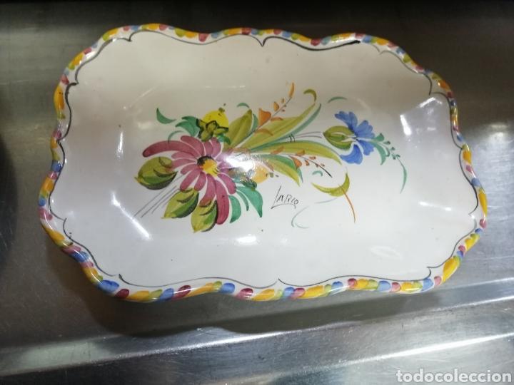 BANDEJA ANTIGUA LARIO (Antigüedades - Porcelanas y Cerámicas - Lario)