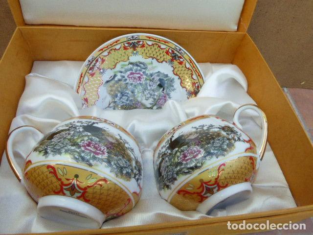ESTUCHE CON JUEGO DE TE - CAFE DE YOKO HISSAN. JAPAN. (Antigüedades - Porcelana y Cerámica - Japón)