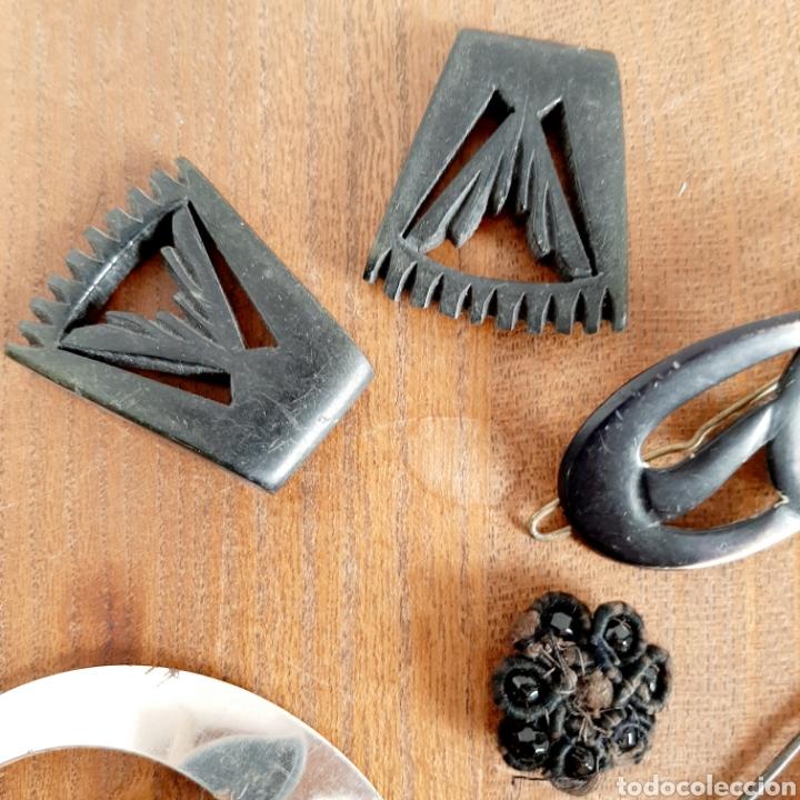 Antigüedades: Lote variado Hebillas Broches / Baquelita Metal etc... - Foto 2 - 193671871
