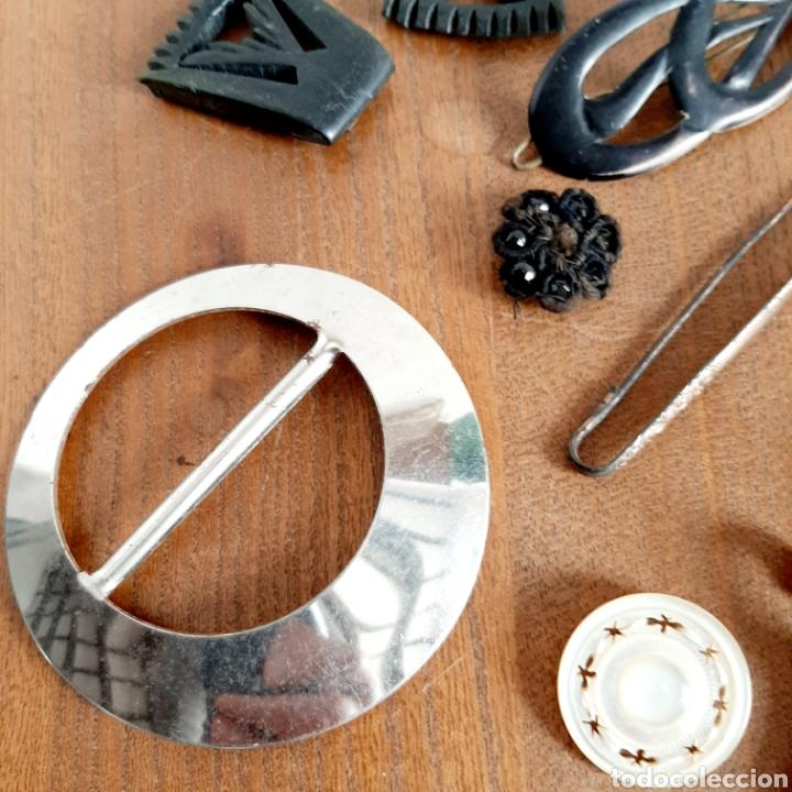 Antigüedades: Lote variado Hebillas Broches / Baquelita Metal etc... - Foto 5 - 193671871