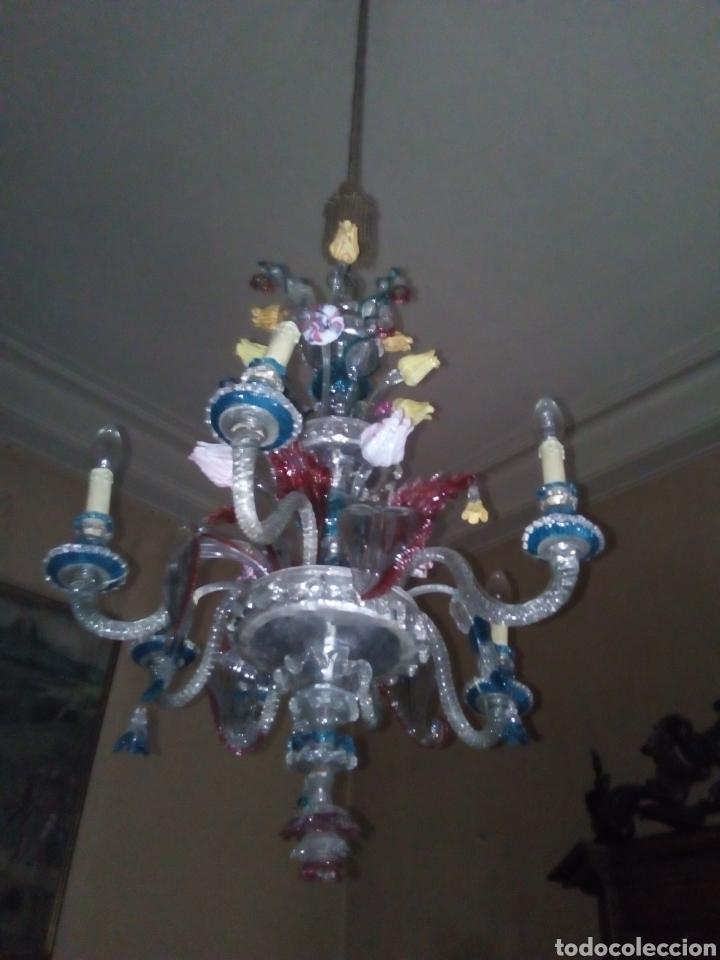 LAMPARA DE MURANO ORIGINAL, ALGUNAS FALTAS (Antigüedades - Cristal y Vidrio - Italiano)