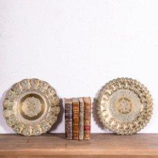 Antigüedades: PAREJA DE PLATOS ANTIGUOS. Lote 193719217