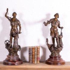Antigüedades: PAREJA DE FIGURAS ANTIGUAS. Lote 193720530