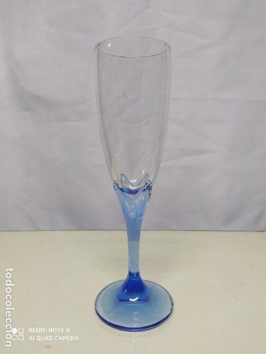 Antigüedades: Juego de 6 copas de cristal. - Foto 3 - 193752666
