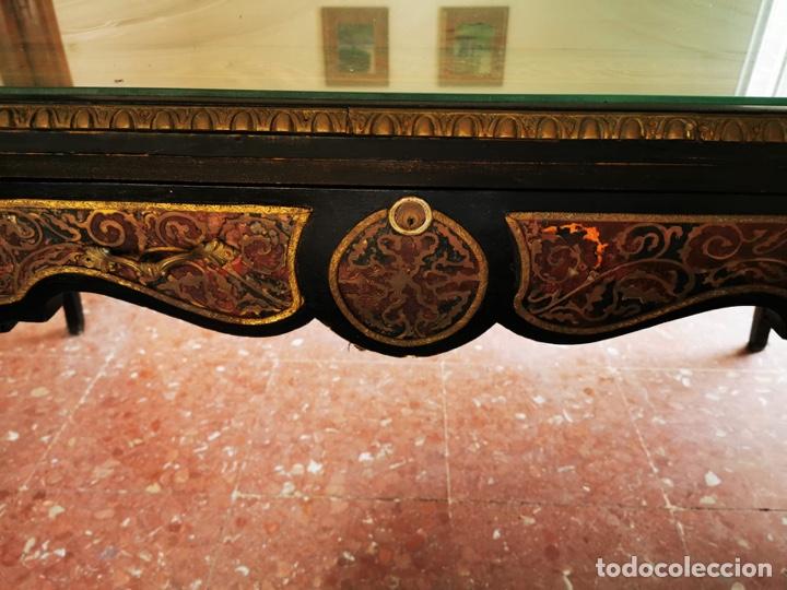 Antigüedades: Maravilloso escritorio estilo Luís XVI negro, en madera maciza de haya. - Foto 3 - 193762061
