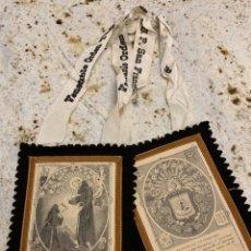 Antigüedades: ESCAPULARIO FRANCISCANO. Lote 193765297