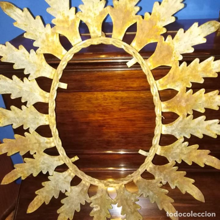 Antigüedades: Antiguo espejo tipo sol, años 20 - Foto 7 - 193769177