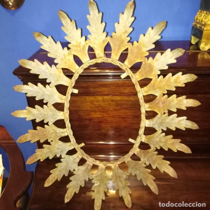 Antigüedades: Antiguo espejo tipo sol, años 20 - Foto 8 - 193769177