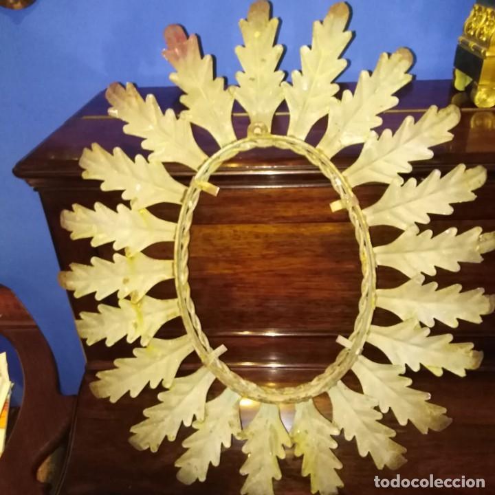 Antigüedades: Antiguo espejo tipo sol, años 20 - Foto 9 - 193769177