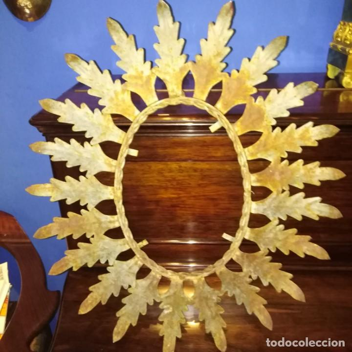 ANTIGUO ESPEJO TIPO SOL, AÑOS 20 (Antigüedades - Muebles Antiguos - Espejos Antiguos)