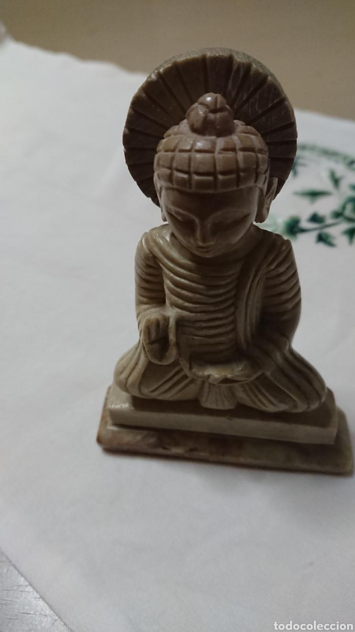 Antigüedades: ESCULTURA BUDA EN MÁRMOL, ARTESANÍA - Foto 2 - 193772628