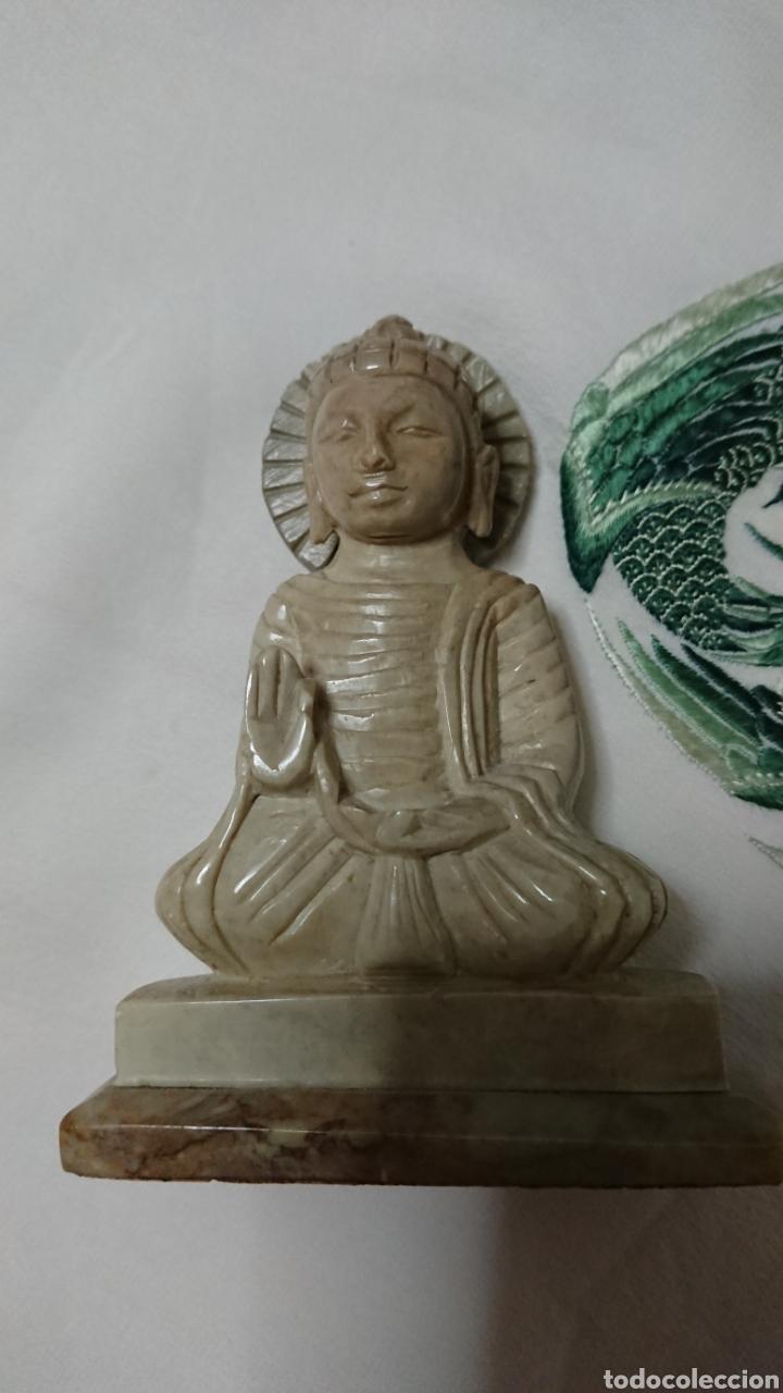 Antigüedades: ESCULTURA BUDA EN MÁRMOL, ARTESANÍA - Foto 5 - 193772628