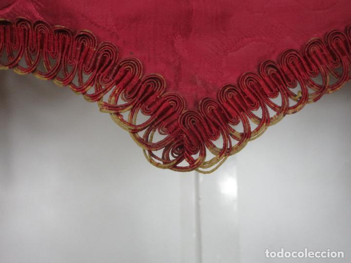 Antigüedades: Bonita Galería - Madera Tallada, Policromada y Dorada - con Cortina, Dosel - S. XVIII-XIX - Foto 5 - 193775740