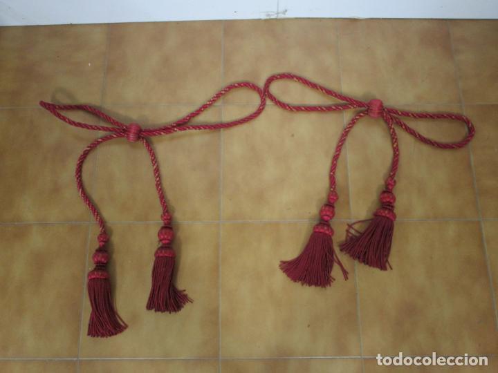 Antigüedades: Bonita Galería - Madera Tallada, Policromada y Dorada - con Cortina, Dosel - S. XVIII-XIX - Foto 21 - 193775740
