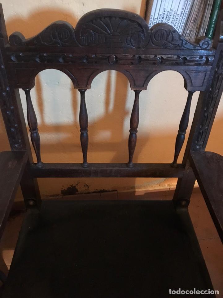 Antigüedades: Sillón de despacho . - Foto 2 - 193794095