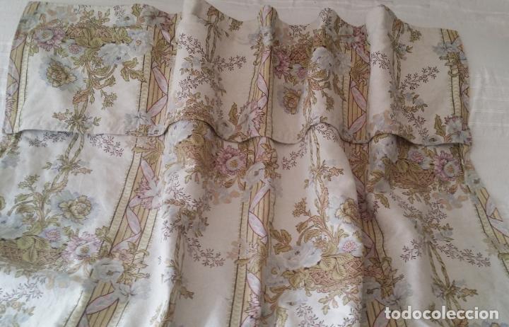 Antigüedades: Cortina lino estampado - Foto 3 - 193796458