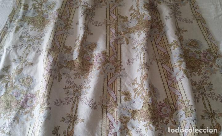 Antigüedades: Cortina lino estampado - Foto 5 - 193796458