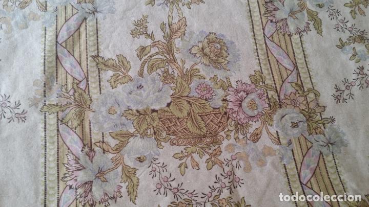 Antigüedades: Cortina lino estampado - Foto 10 - 193796458