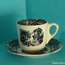 Antigüedades: PLATO Y TAZA DE CAFÉ. DIÁMETRO PLATO 12,5 CM. ALTURA TAZA 6 CM. Lote 193798508