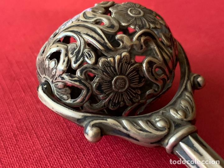 Antigüedades: Fantástico sonajero en plata contrastada - Foto 4 - 193803552