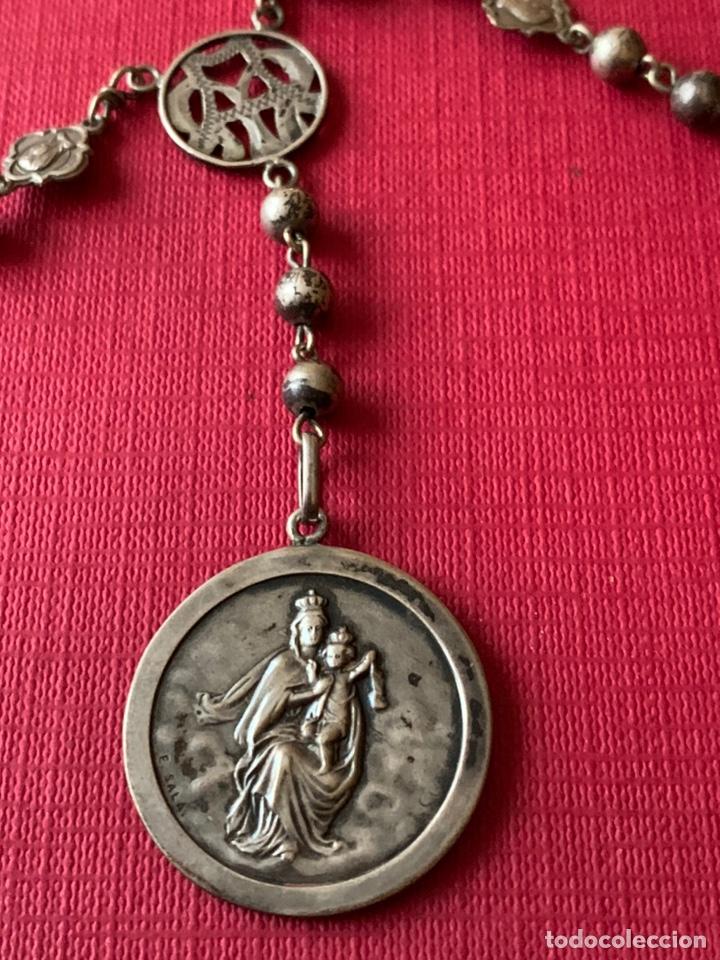 Antigüedades: Magnífico rosario de colección en plata de Ley - Foto 2 - 193803853
