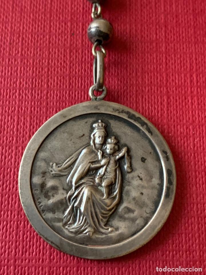 Antigüedades: Magnífico rosario de colección en plata de Ley - Foto 3 - 193803853